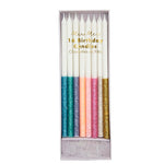 Meri Meri Glitter Dipped Candles- Multicolour- 16 set