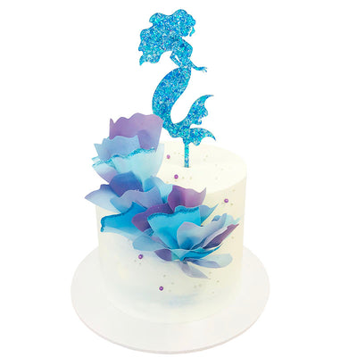 Acrylic Glitter Mermaid Cake Topper