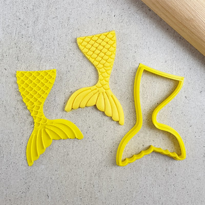 Cookie Cutter and Embosser Set - Mermaid Tail