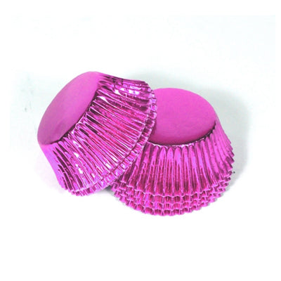 Large Cupcake papers - Metallic Pink