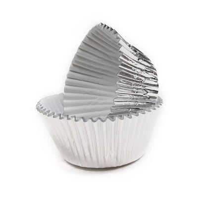 Large Cupcake papers - Metallic Silver