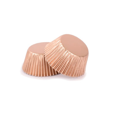 Mini Cupcake Papers -Metallic Rose Gold