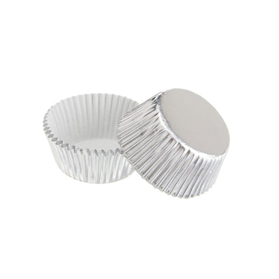 Mini Cupcake Papers -Silver