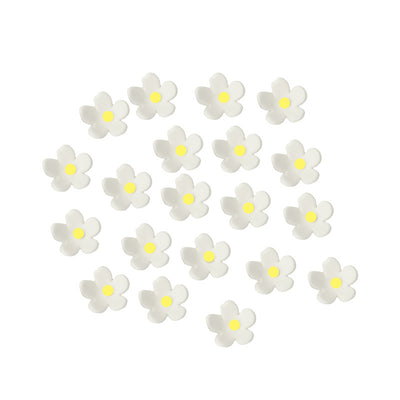 Mini Blossoms- 20 pack- White with Yellow Centres