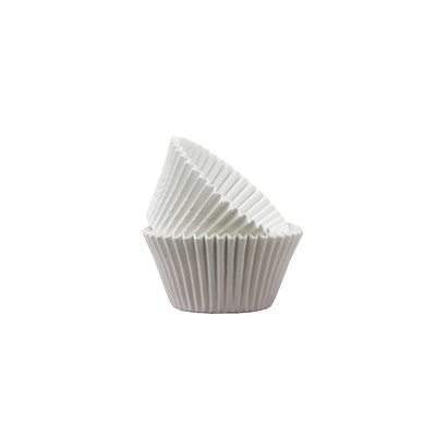 Mini Cupcake Papers - White