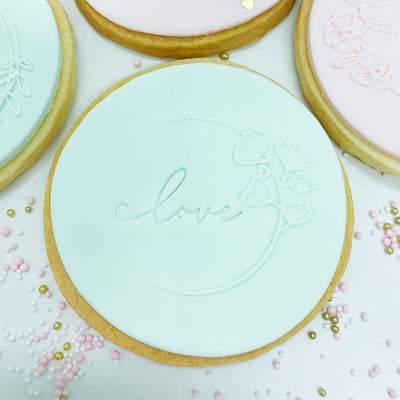 Mini Cookie Embosser -  Love