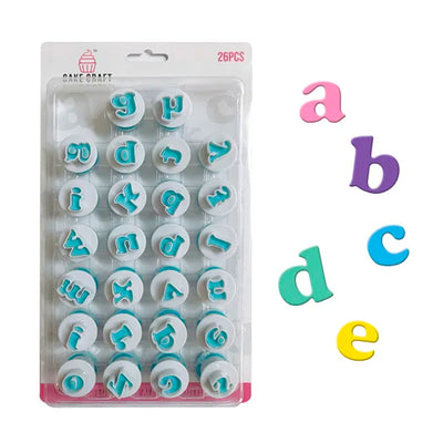 Lowercase Alphabet Plunger Cutter Set