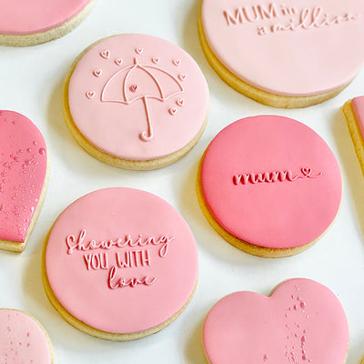 Reverse Cookie Embosser Mini Set - Mother's Day- Showering you with Love