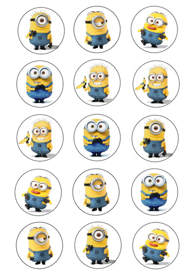 Cupcake and Cookie Wafer Sheet - Minions