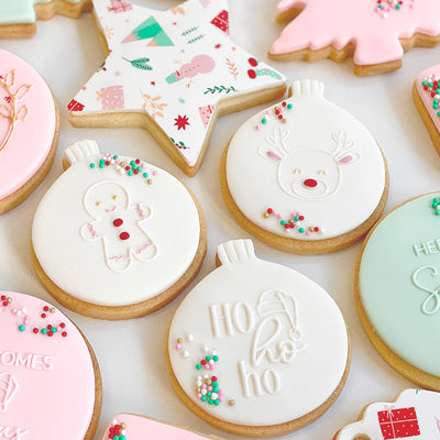 NEW Reverse Cookie Embosser - Mini Christmas Cuties Trio Mix