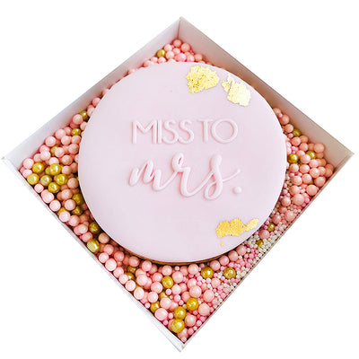 NEW Reverse Cookie Embosser - Miss to Mrs