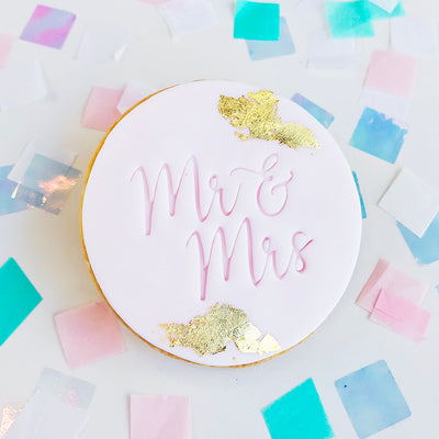 Cookie and Fondant Stamps - Mr and Mrs