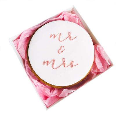 NEW Reverse Cookie Embosser - mr & mrs