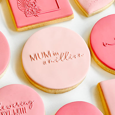 Reverse Cookie Embosser - Mum in a million