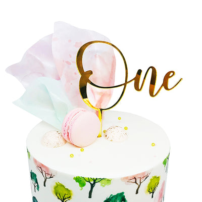 Acrylic/Wooden Cake Topper -One