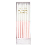 Meri Meri Glitter Dipped Candles- Pale Pink- 16 set