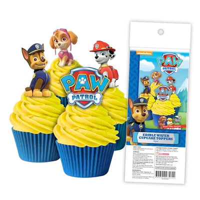 Cupcake Wafer Shapes - Paw Patrol - 16 pieces