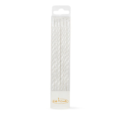 Spiral Candles Pack 12 - Pearl