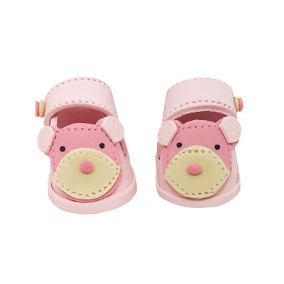 Teddy Baby Booties - Girl
