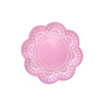 Pink Lovely Lace Party Plates