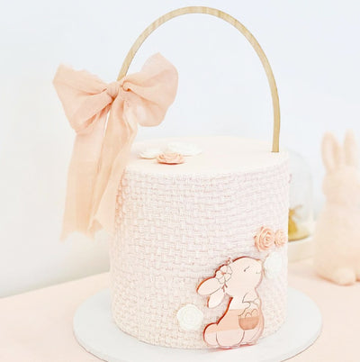 Acrylic Pretty Bunny Cake Plaque