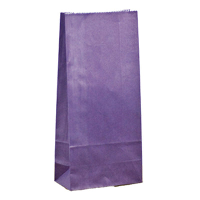 Paper Lolly Bags - Purple- 10 Pack