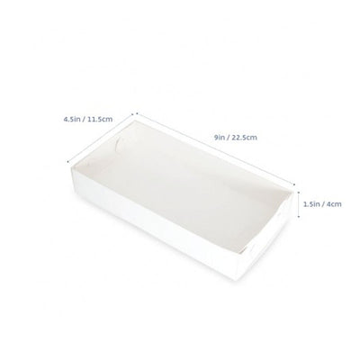 "Cookie Box - 9"" x 4.5"" x 1""- CLEAR LID- 10 pack"