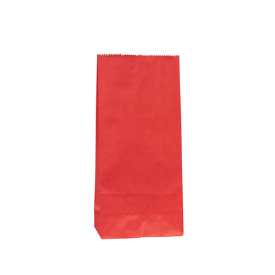 Paper Lolly Bag - Red- 10 Pack