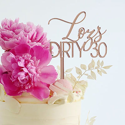 Custom Cake Topper Acrylic -  2 lines- Mixed Font