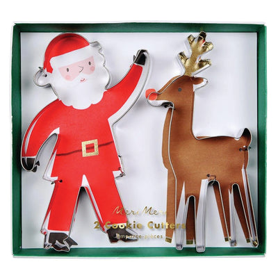 Meri Meri- Santa and Reindeer Cookie Cutter Set