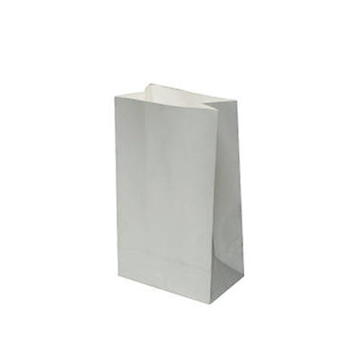 Paper Lolly Bag - Silver- 10 Pack