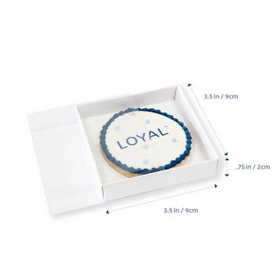 "Cookie Box with clear lid - 3.5"" x 3.5"" x .75""- 10 pack"