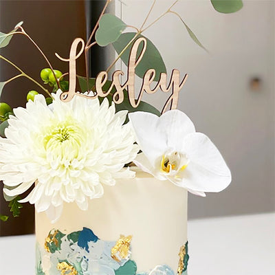 Custom Cake Topper Acrylic -  Script -Single Line