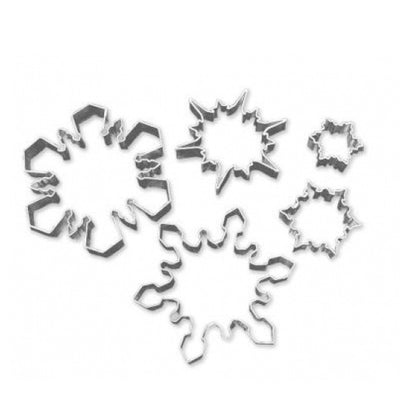 Snowflake Cookie Cutters Set- 5 piece