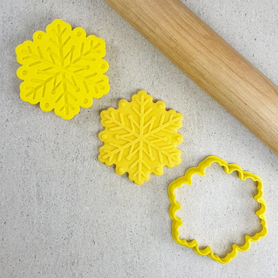 Cookie Cutter and Embosser Set - Snowflake