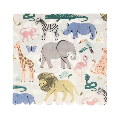Meri Meri Safari Animal large napkins- 20 pack