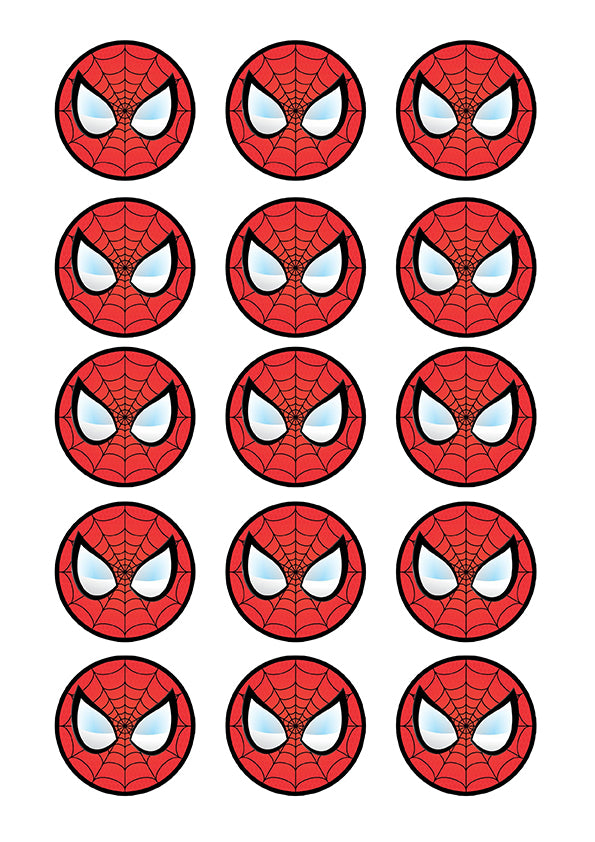 Cupcake And Cookie Wafer Toppers Spiderman Somethingforcake