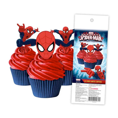 Cupcake Wafer Shapes - Spiderman - 16 pieces