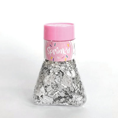 Sprink'd loose silver leaf flakes