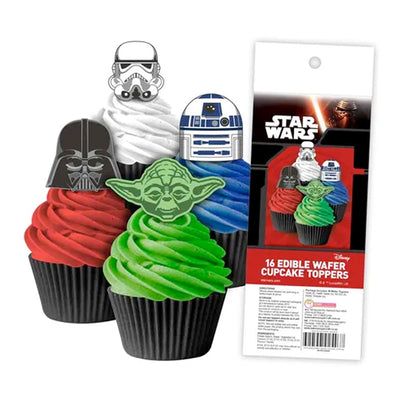 Cupcake Wafer Shapes - Star Wars - 16 pieces