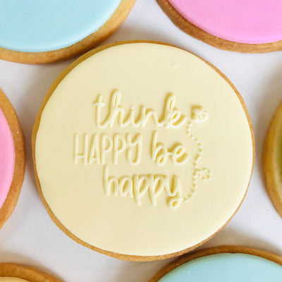 NEW Reverse Cookie Embosser - think happy be happy