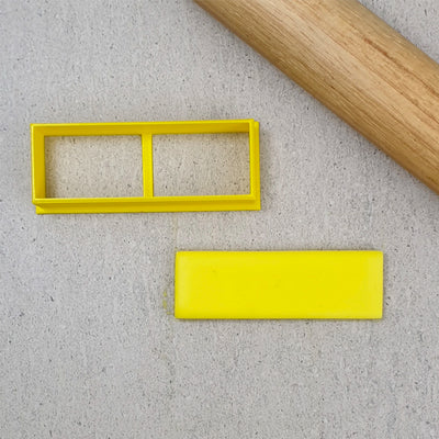 Cookie Cutter - Thin Rectangle-  80 x 26 mm