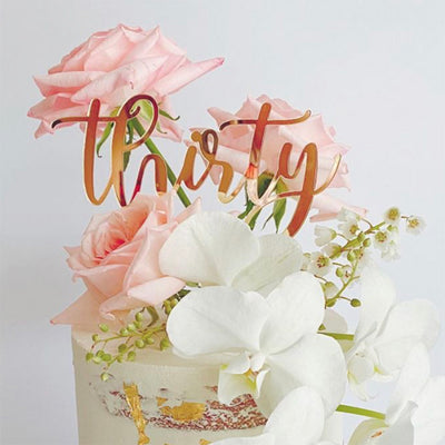 Acrylic/Wooden Cake Topper -Thirty