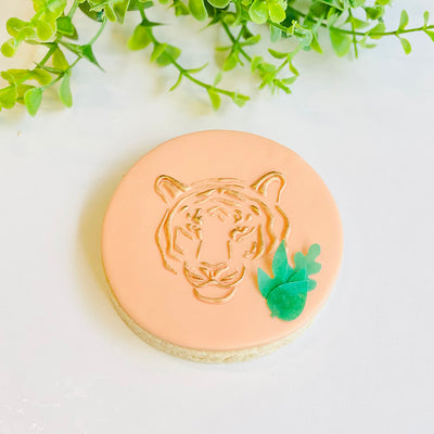 Reverse Cookie Embosser - Tiger Face
