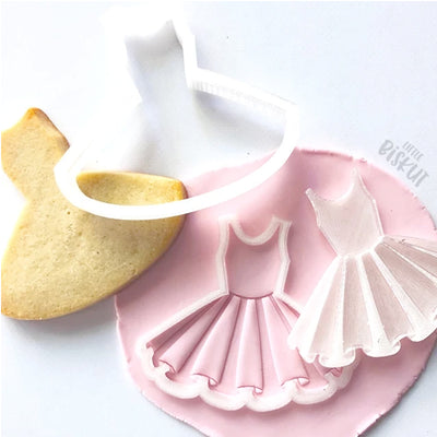Little Biskut - Cookie Cutter and Embosser Set - Tutu