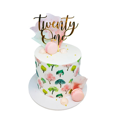 Acrylic/Wooden Cake Topper -Twenty One