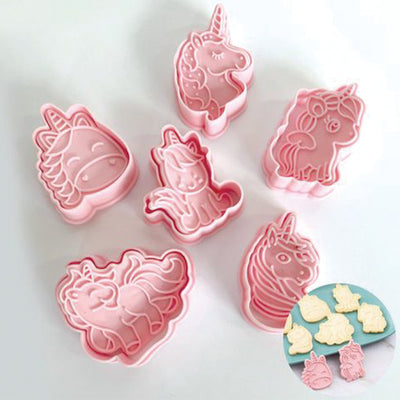 Unicorn Icing cookie cutter impression set