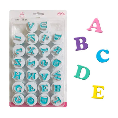 Uppercase Alphabet Plunger Cutter Set