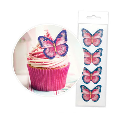 Cupcake Wafer Shapes - Butterflies