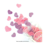 Sprink'd Wafer Paper Shapes Decorations - Pink and Purple Hearts